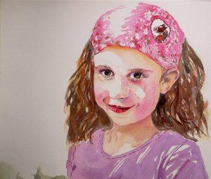 Aquarellportrait Mädchen