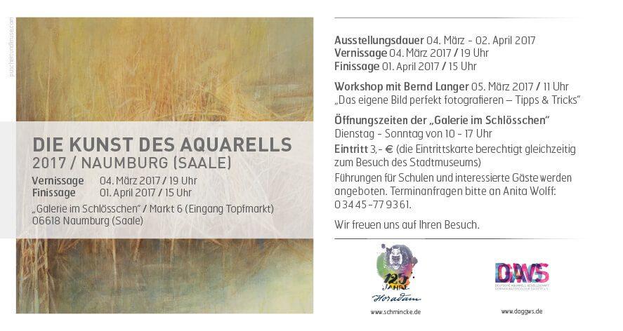 Einladung zur Jahresausstellung der Deutschen Aquarellgesellschaft 2017