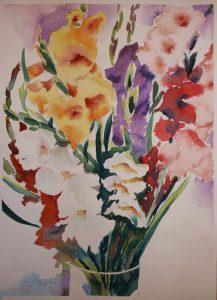 Gladiolen in Vase
