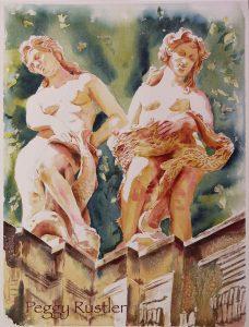 Statuen: Zwei Nymphen vom Dresdner Zwinger