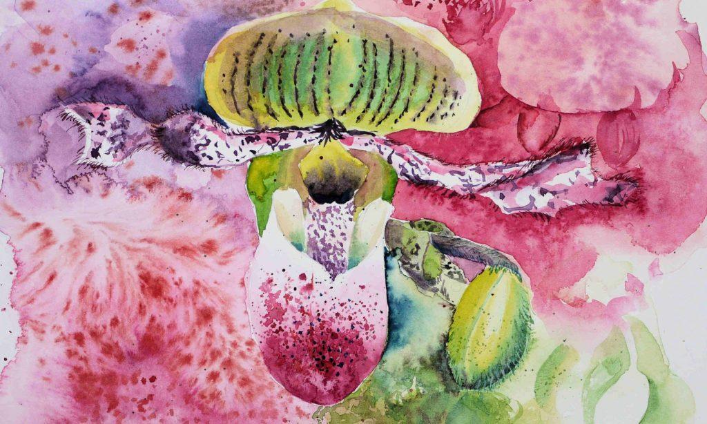 Aquarell mystische Pflanze auf Hahnemühle Leonardo satiniert