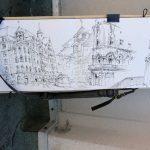 Urban Sketchers Augsburg: Zeichnung von Daniel Nies