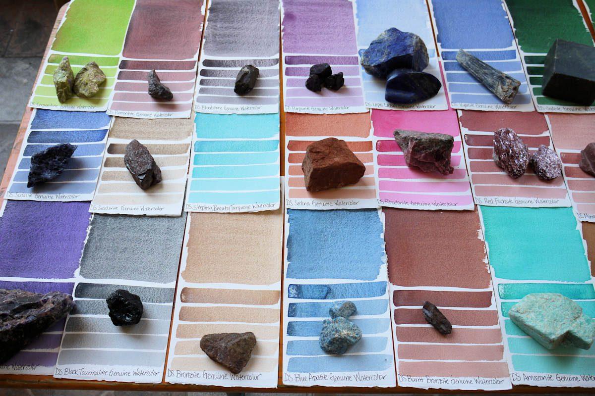 Die mineralischen Aquarellfarben von Daniel Smith in Fabriano
