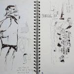 Urban Sketchers Augsburg: Auf dem Riegelehaus während Augsburg Open