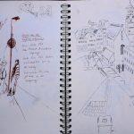 Urban Sketches: Warten und die Moritzkirche