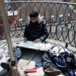 Urban Sketchers Augsburg: Daniel Nies in der Höhe