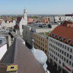 Urban Sketchers- Blick auf die Moritzkirche Augsburg