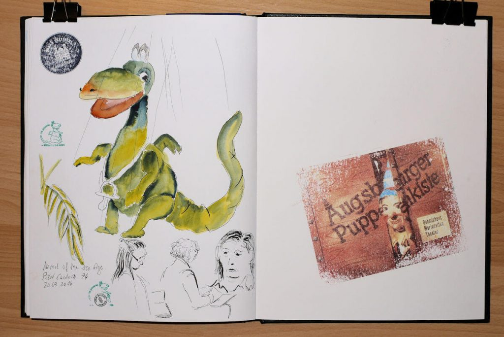 Urmel aus dem Eis, Portraits und Azetonabzug der Augsburger Puppenkiste