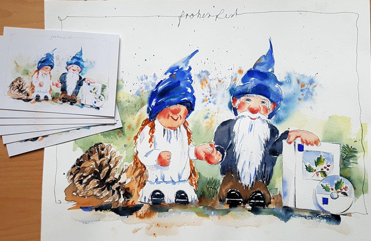 Weihnachtskarte WEKA Wichtel
