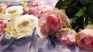 Rosen auf Hahnemühle Leonardo 600