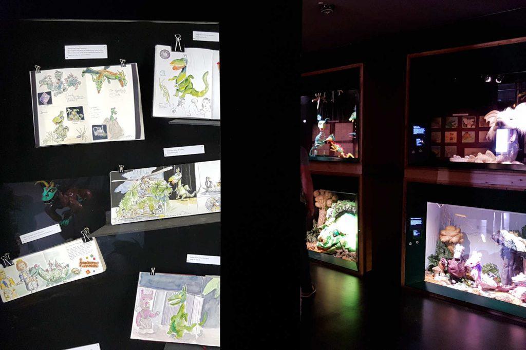 Mein erstes Treffen mit den Augsburger Urban Sketchers war im Puppenkistenmuseum. Zwei Jahre später wurden genau die Skizzen im Museum ausgestellt.