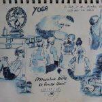 Urban Sketch während eines Yoga-Retreats mit Dr. Roland Steiner in Ulm