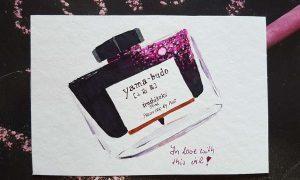 Skizze von Tinte iroshizuku yama-budo