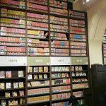 Das Foto zeigt eine große Sammlung alter Mangas aus den 1970er Jahren