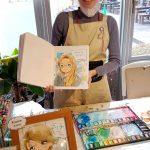Manga Frau im Manga Museum Kyoto